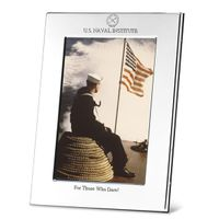 USNI Polished Pewter 4x6 Picture Frame