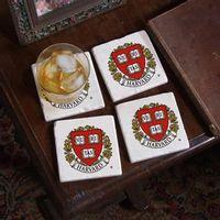 Harvard Logo Marble Coasters