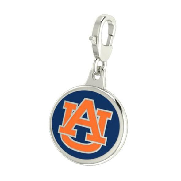 Auburn Enameled Charm with Lobster Claw Clasp