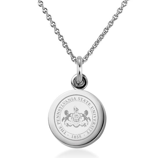 penn state sterling silver necklace with sterling silver charm