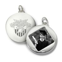 West Point Monica Rich Kosann Round Charm in Silver