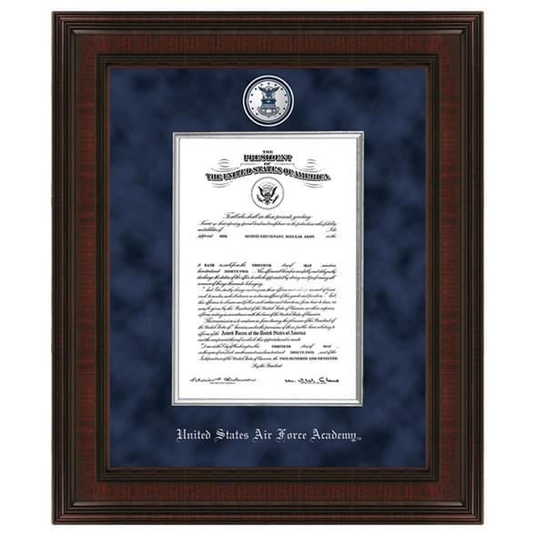 USAFA Excelsior Diploma Frame Comm Cert