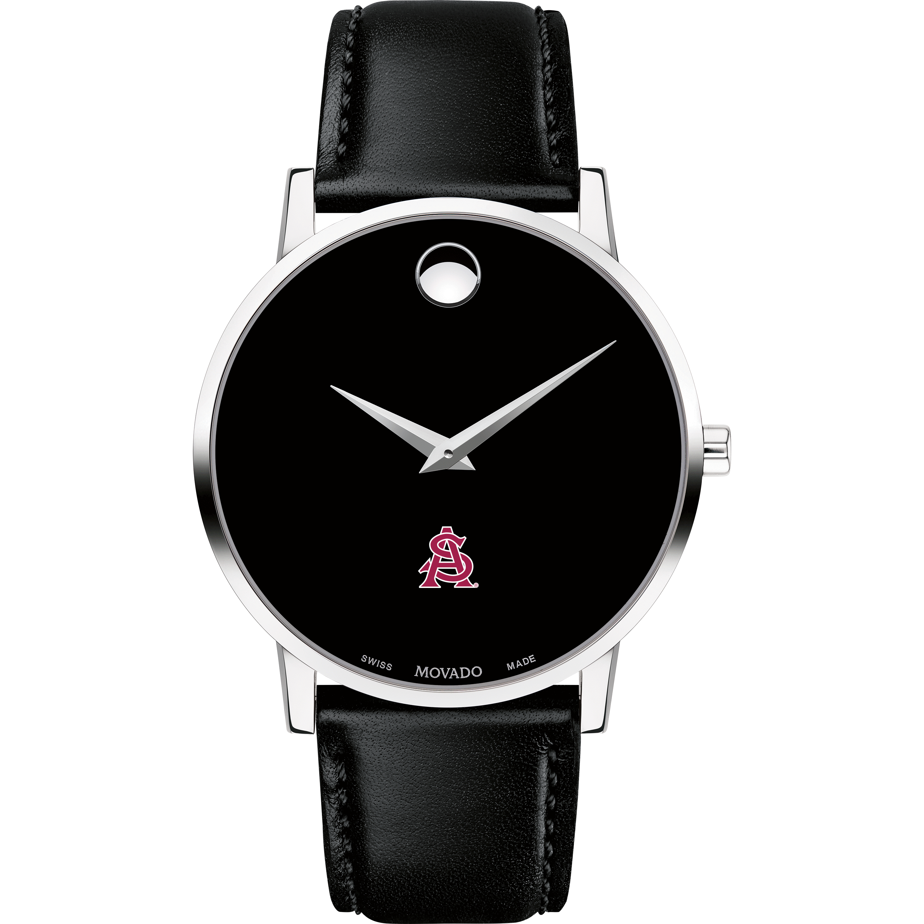 ASU Men's Movado Museum with Leather Strap