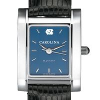 UNC Women's Blue Quad Watch with Leather Bracelet