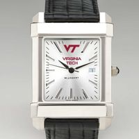 Virginia Tech Men's Collegiate Watch with Leather Strap