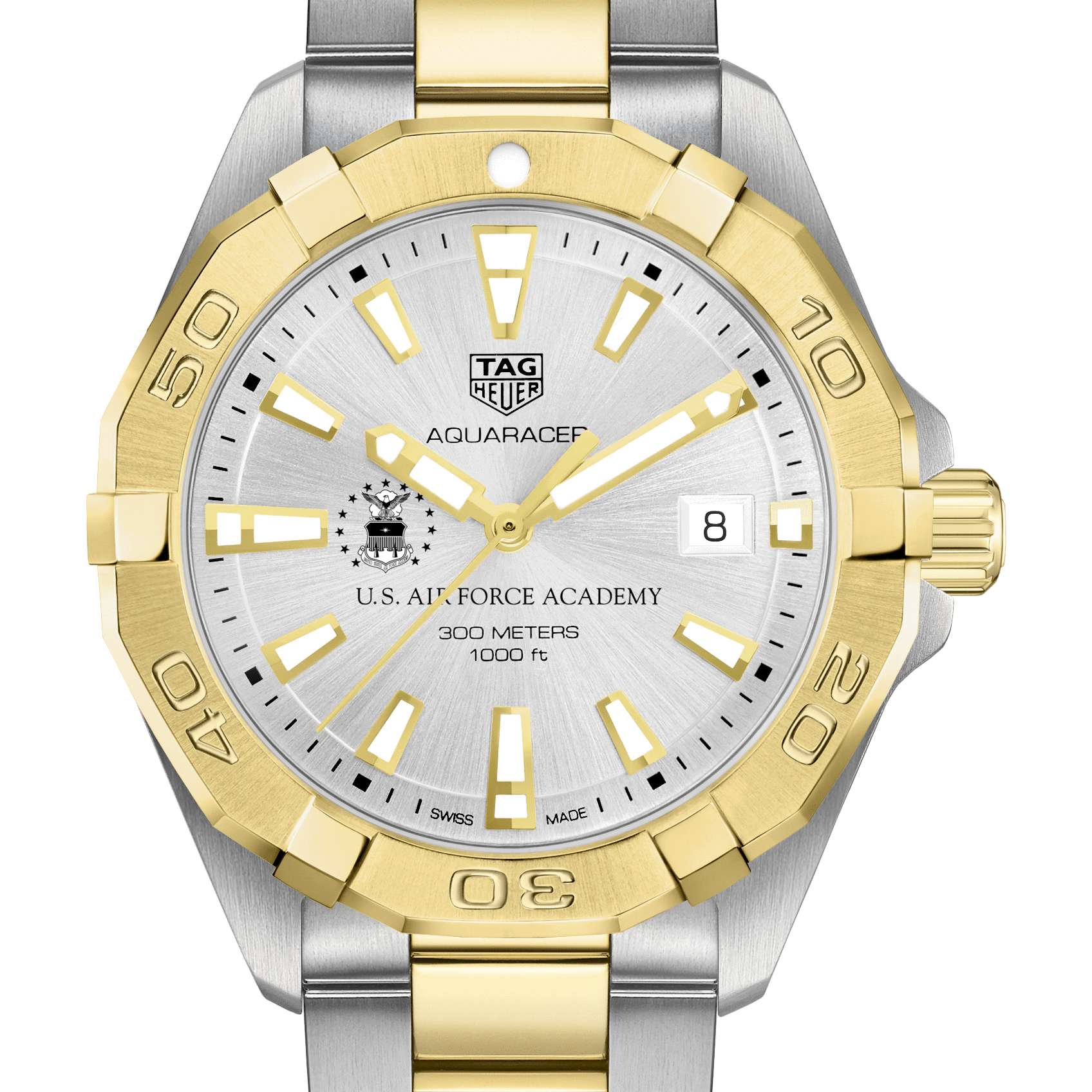 Air Force Academy Men's TAG Heuer Two-Tone Aquaracer