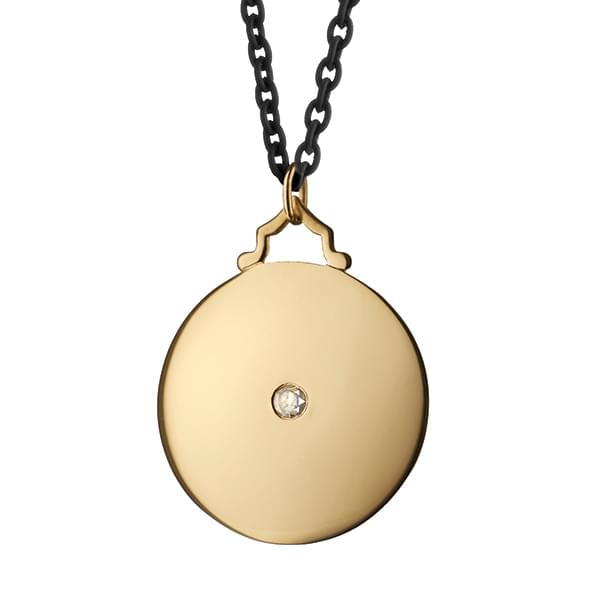 Auburn Monica Rich Kosann Round Charm in Gold with Stone