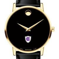 Holy Cross Men's Movado Gold Museum Classic Leather