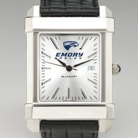 Emory Men's Collegiate Watch with Leather Strap Image-1 Thumbnail