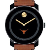 Texas Men's Movado BOLD with Brown Leather Strap