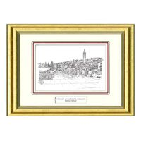 Berkeley Black Ink Gold Frame