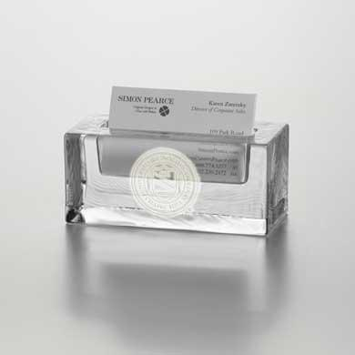 UNC Glass Business Cardholder by Simon Pearce