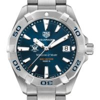 William & Mary Men's TAG Heuer Steel Aquaracer with Blue Dial