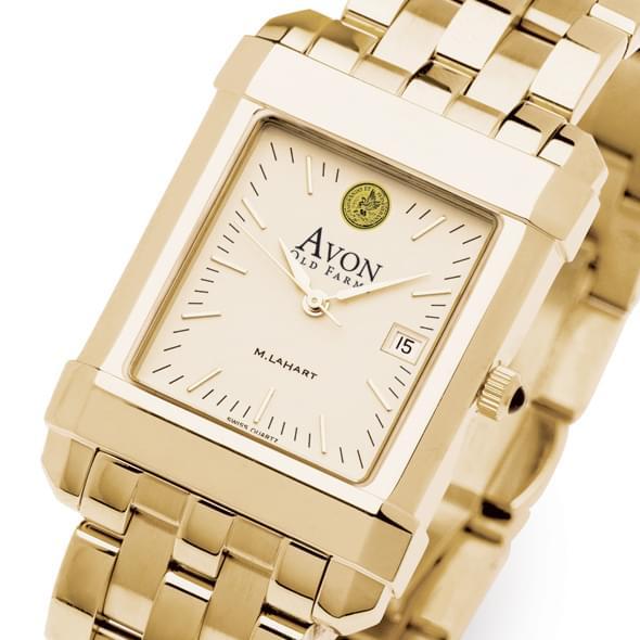 Avon Old Farms Men's Gold Quad Watch with Bracelet