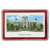 Virginia Tech Eglomise Paperweight