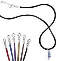 Kappa Kappa Gamma Satin Necklace with Greek Letter Charm Image-1 Thumbnail