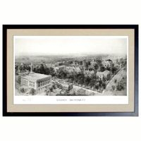 Historic Brown University Black and White Print