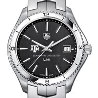 Texas A&M TAG Heuer Men's Link Watch with Black Dial