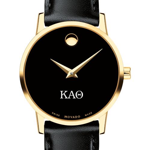 Kappa Alpha Theta Women's Movado Gold Museum Classic Leather