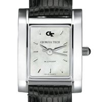 Georgia Tech Women's Mother of Pearl Quad Watch with Leather Strap