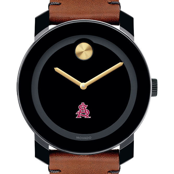 Arizona State Men's Movado BOLD with Brown Leather Strap