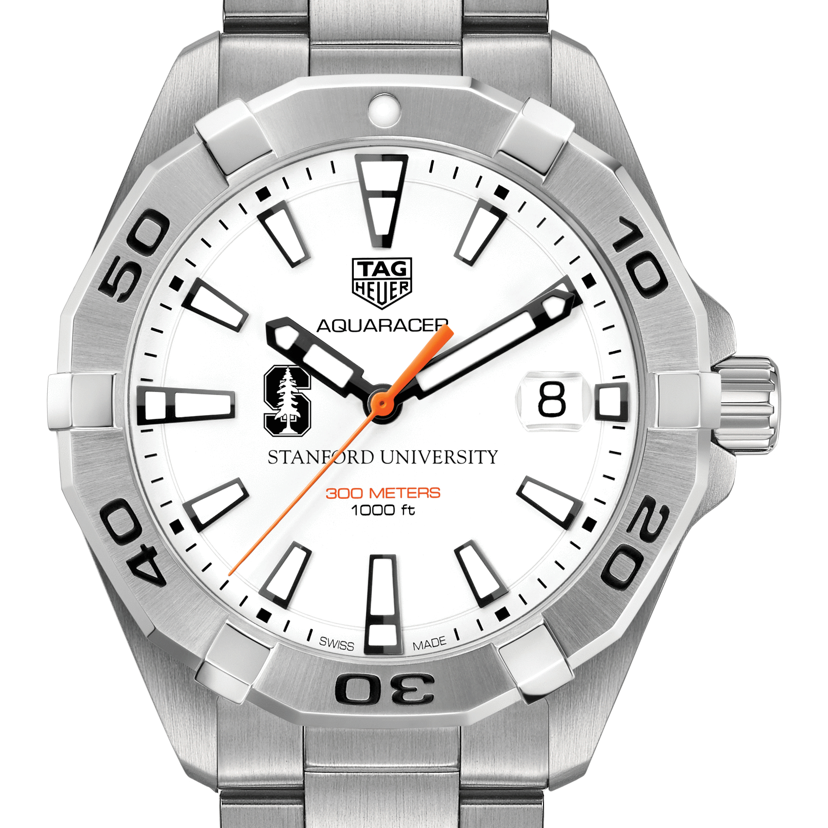 Stanford University Men's TAG Heuer Steel Aquaracer