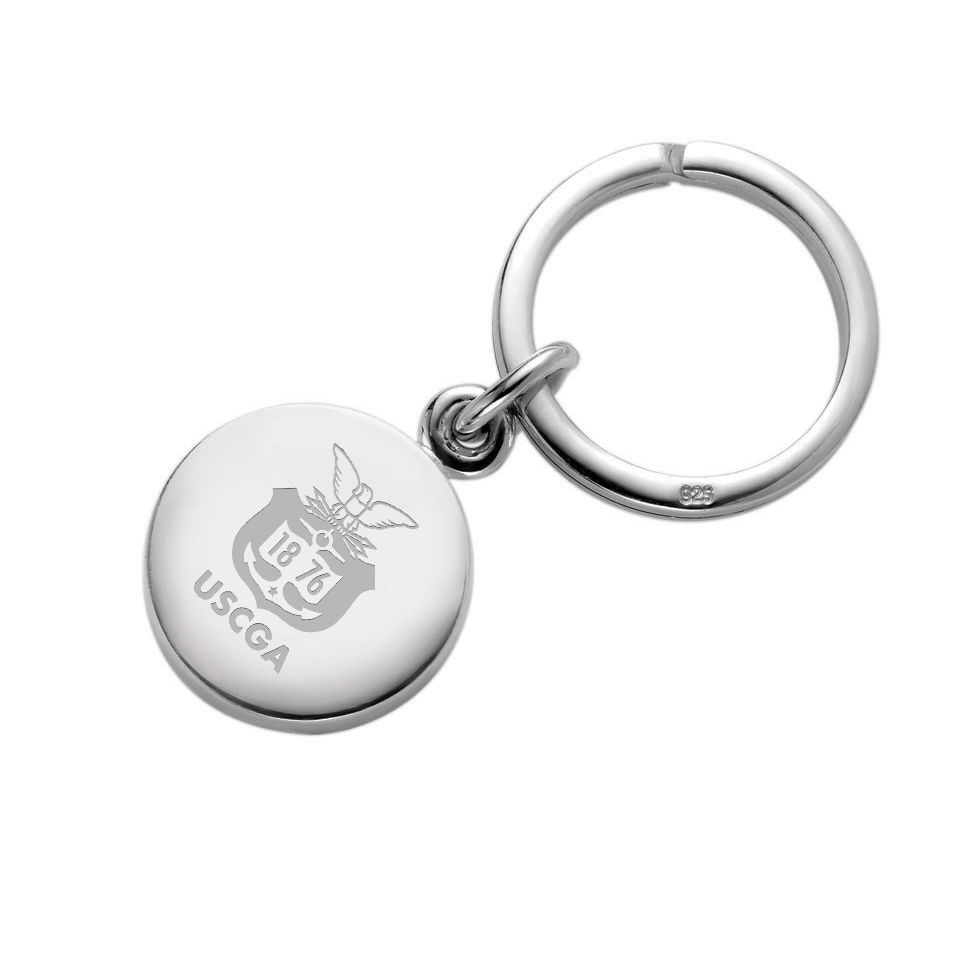 Coast Guard Academy Sterling Silver Insignia Key Ring