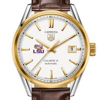 LSU Men's TAG Heuer Two-Tone Carrera with Strap