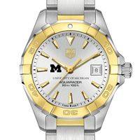 Michigan Women's TAG Heuer Two-Tone Aquaracer