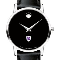 Holy Cross Women's Movado Museum with Leather Strap