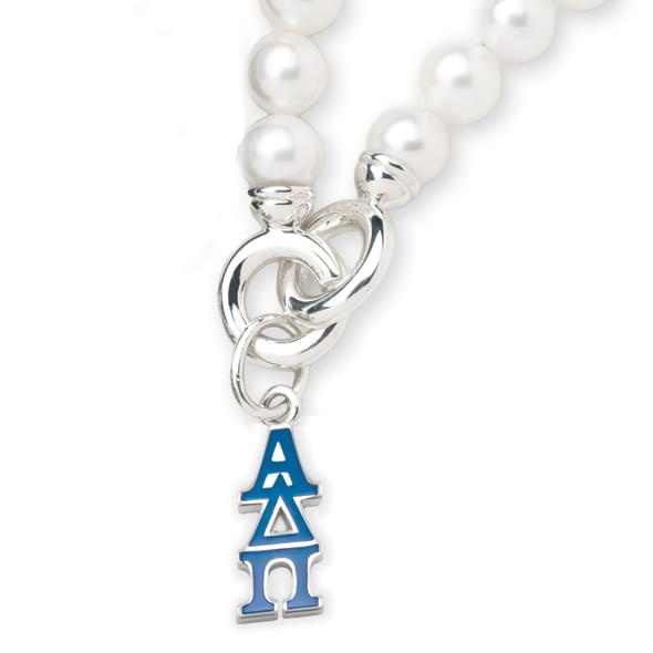 Alpha Delta Pi Pearl Bracelet with Greek Letter Charm