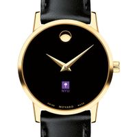 NYU Women's Movado Gold Museum Classic Leather