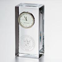 James Madison Tall Glass Desk Clock by Simon Pearce
