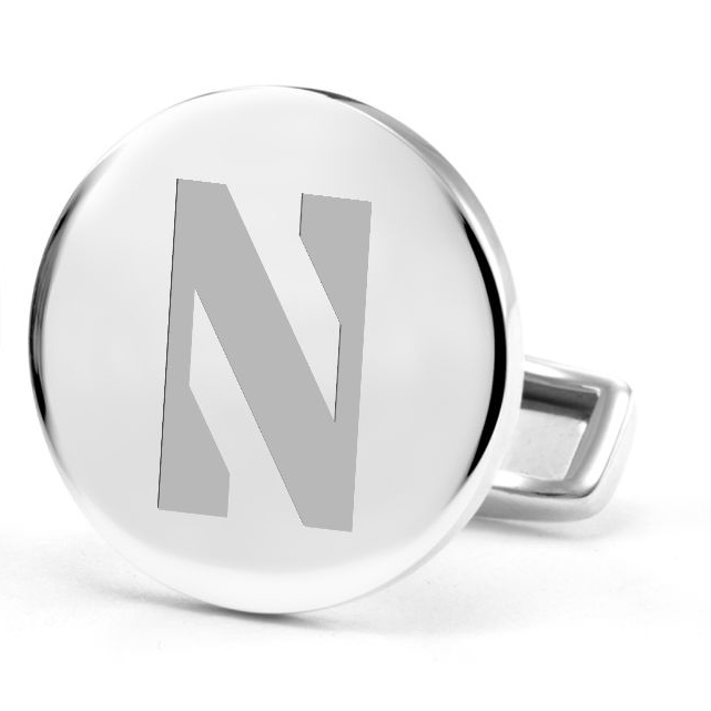 Northwestern Sterling Silver Cufflinks Image-2