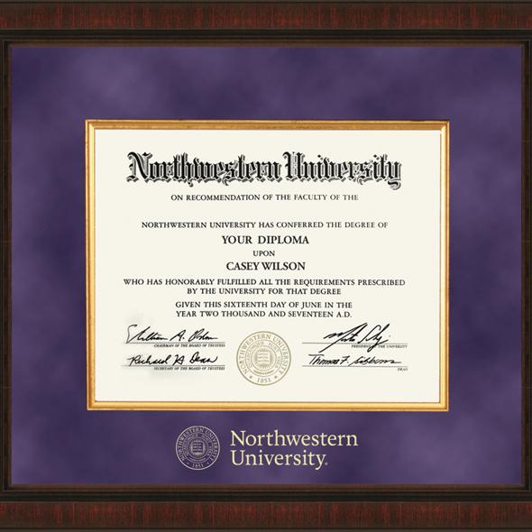 Northwestern University Diploma Frame Excelsior