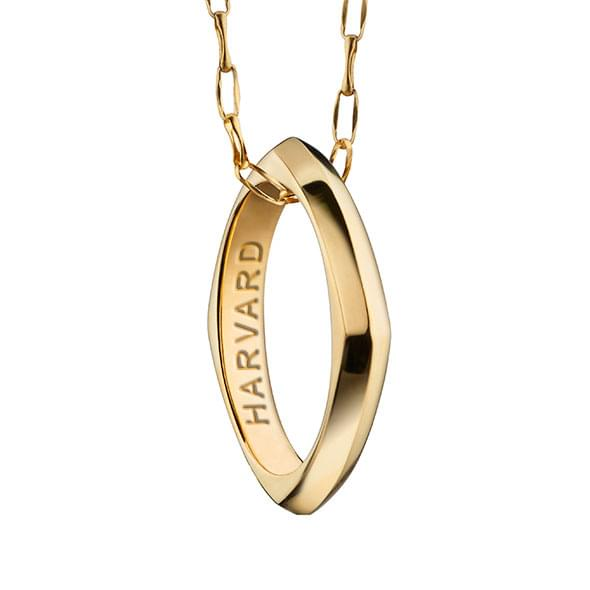 Harvard Monica Rich Kosann Poesy Ring Necklace in Gold