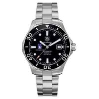 Northwestern Men's TAG Heuer Automatic Aquaracer with Black Bezel Image-1 Thumbnail