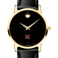 Miami University Women's Movado Gold Museum Classic Leather