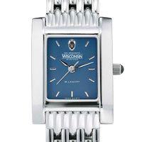 Wisconsin Women's Blue Quad Watch with Bracelet