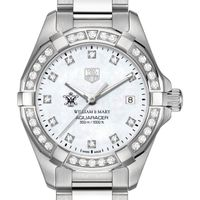 William & Mary Women's TAG Heuer Steel Aquaracer with MOP Diamond Dial & Diamond Bezel
