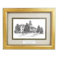 Framed Pen and Ink US Coast Guard Academy Print