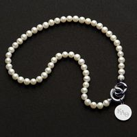 Kappa Alpha Theta Pearl Necklace with Sterling Silver Charm Image-1 Thumbnail