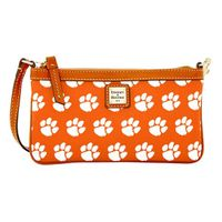 Clemson  Dooney & Bourke Large Slim Wristlet