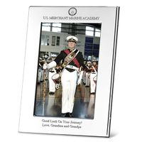 USMMA Polished Pewter 4x6 Picture Frame