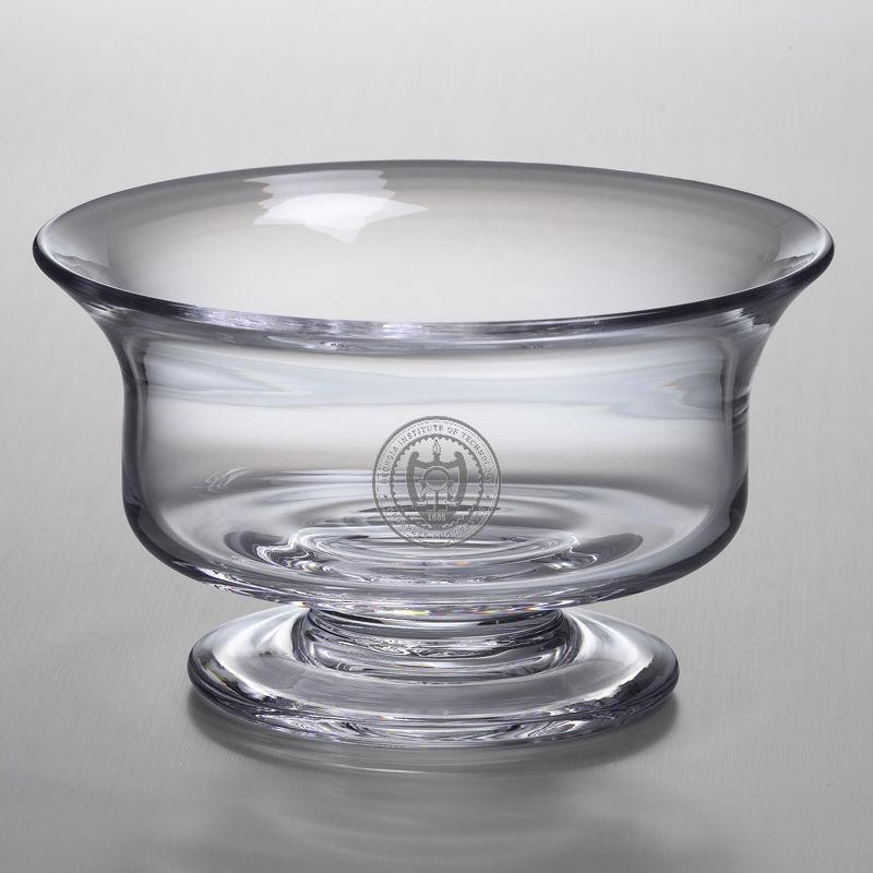 Georgia Tech Large Glass Revere Bowl by Simon Pearce