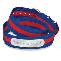 Southern Methodist University Double Wrap NATO ID Bracelet