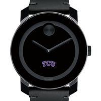 TCU Men's Movado BOLD with Leather Strap