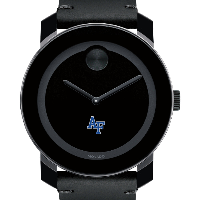 USAFA Men's Movado BOLD with Leather Strap