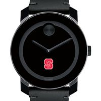 NC State Men's Movado BOLD with Leather Strap