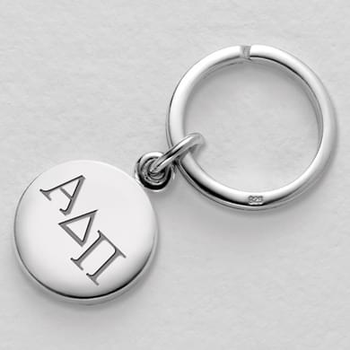 Alpha Delta Pi Sterling Silver Insignia Key Ring